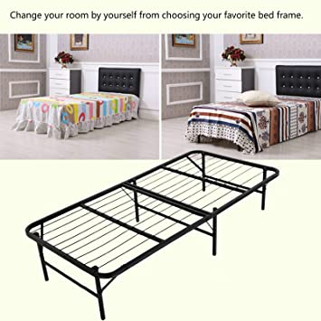 homdox foldable smartbase mattress foundation platform bed frame box spring replacement twin
