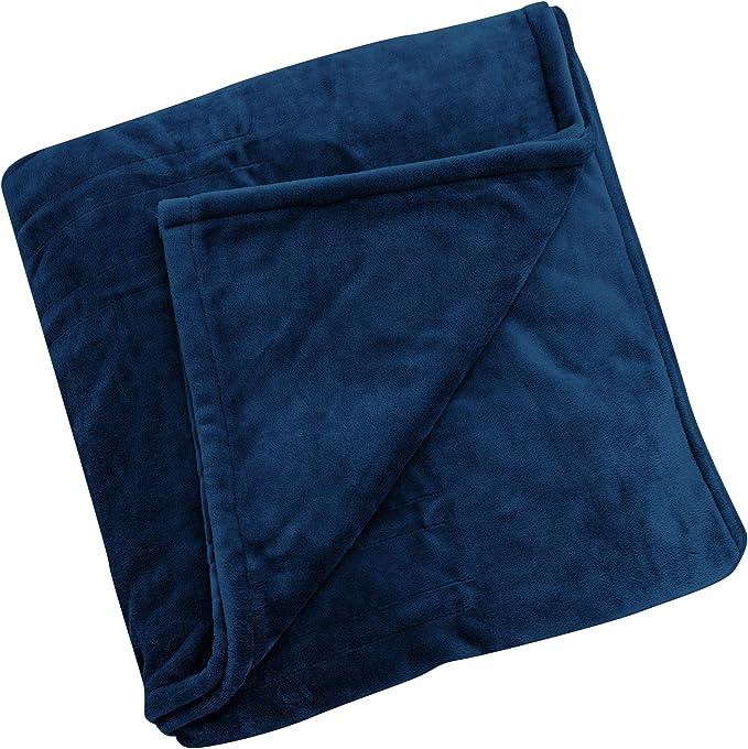 Brookstone nap Plush Throw Heated Luxury Blanket Gray Queen Read Description