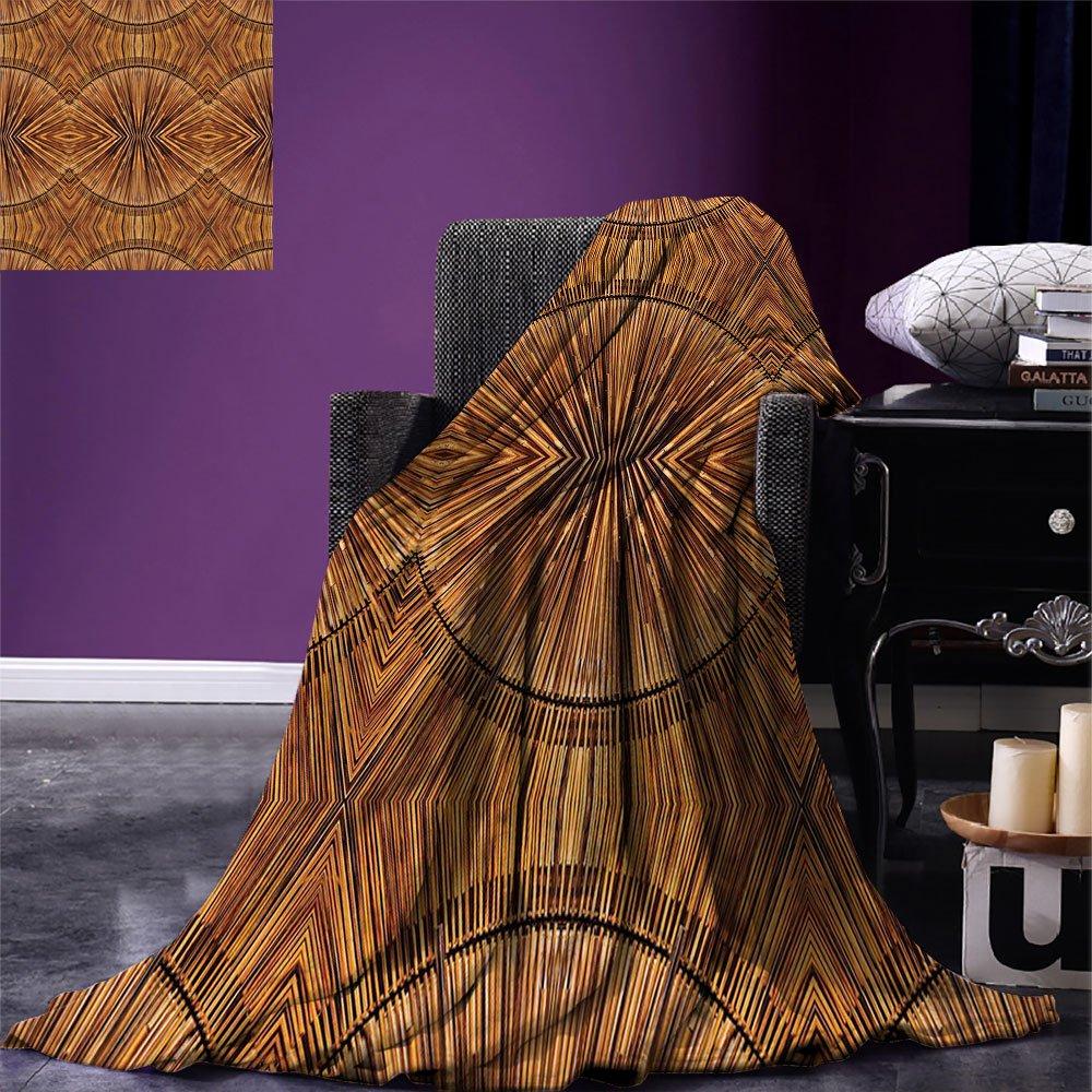 smallbeefly Tribal Digital Printing Blanket Boho Bamboo Pattern Primitive Eastern Ethnic Spiritual Jagged Wood Style Artistic Print Summer Quilt Comforter Ginger