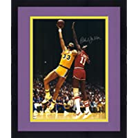 "$279 » Framed Kareem Abdul-Jabbar Los Angeles Lakers Autographed 16"" x 20"" Skyhook Photograph - Fanatics Authentic Certified"