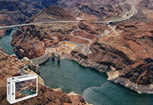 1000 Piece Jigsaw Puzzle - Hoover Dam Rial Photography Wooden in a Box Famous Paintings Mural Decoration 29.5 X 19.6 Inch