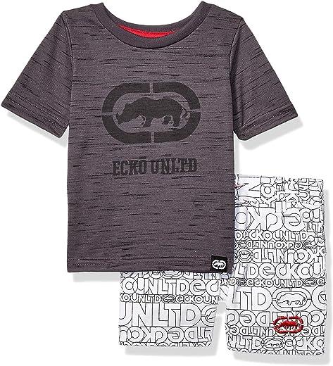 Marc Ecko Short Sleeve Rhino T-Shirt and Logo Short