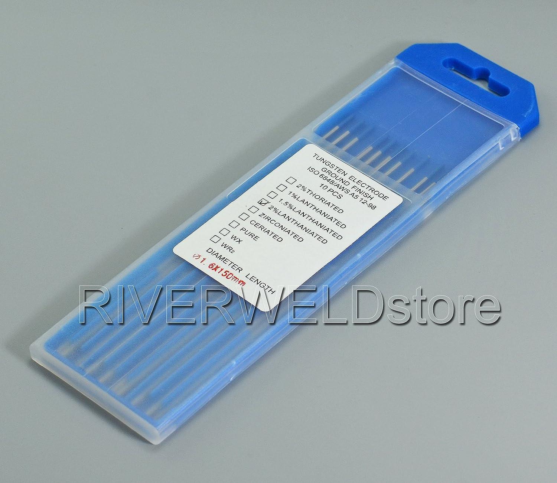 2, 0% Lanthanated WL20 Bleu Sky TIG é lectrode de tungstè ne (1/16'x 7' & 1, 6mm x175mm 10pk) 0% Lanthanated WL20 Bleu Sky TIG électrode de tungstène (1/16x 7 & 1 RIVERWELDstore