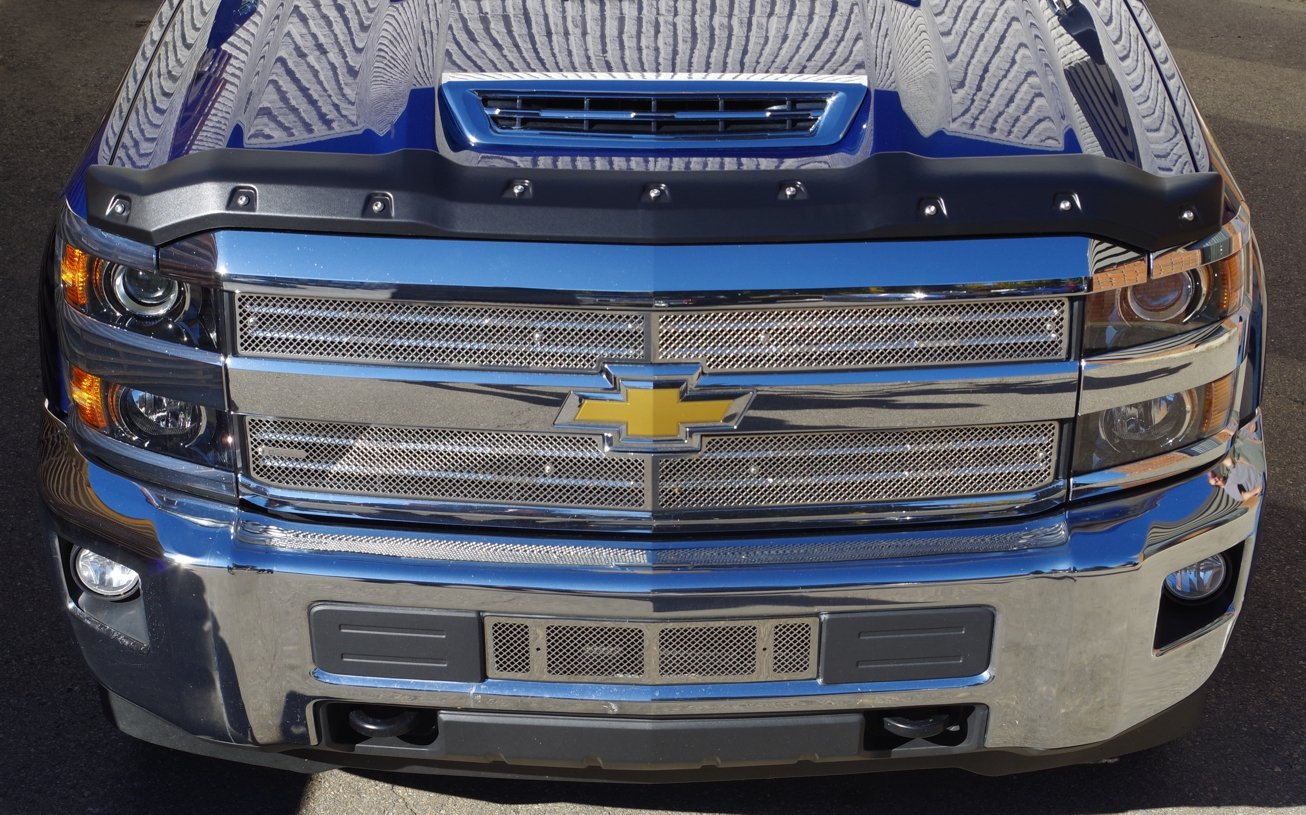 FormFit Smooth Black Tough Guard Hood Protector Bug Shield Deflector Fits  2017 2018 Chevrolet Silverado 2500 3500 Duramax Diesel