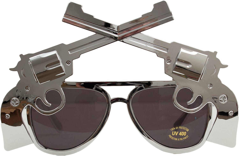 Veil Entertainment Six Shooter Cowboy Novelty Sunglasses Black Lens