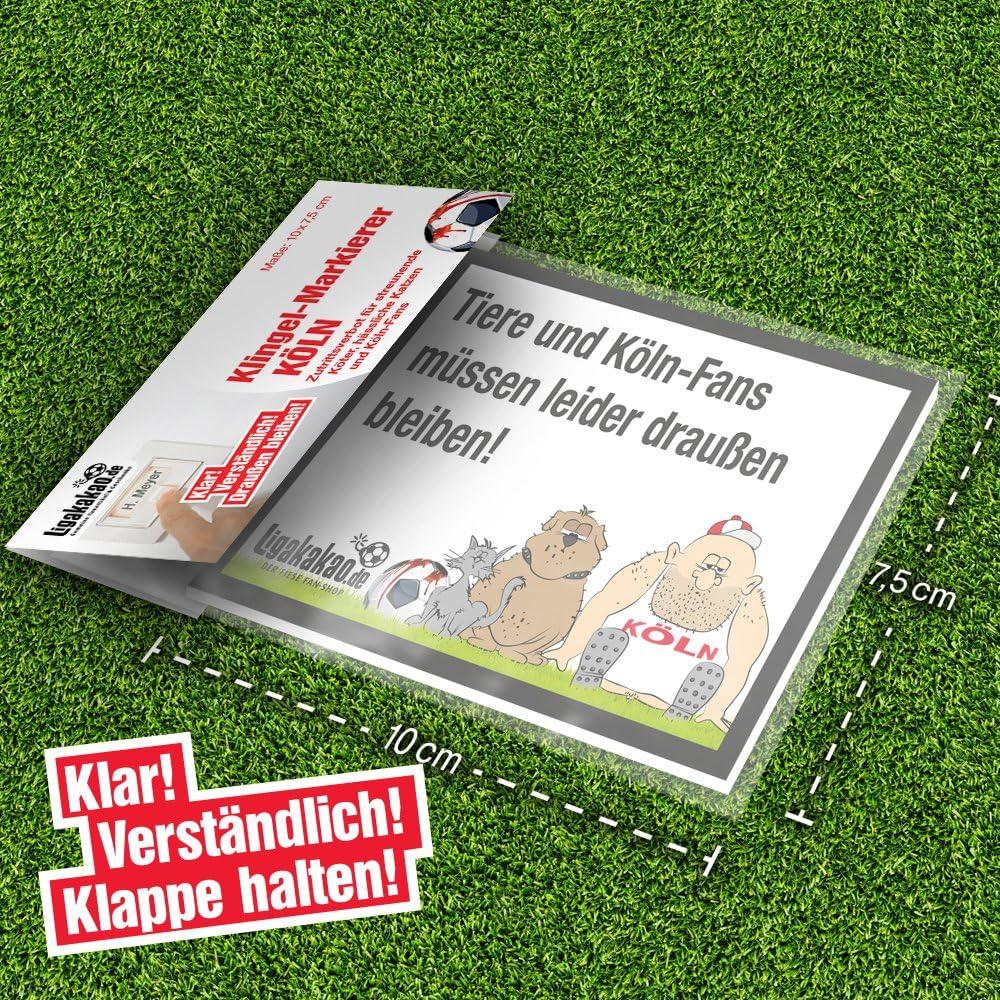 Borussia MGladbach- /& alle Fu/ßball-Fans Dieses witzige Haus-T/ür-Schild sorgt f/ür klare Verh/ältnisse Achtung Fortna D/üsseldorf- Klingel Abwehr-Schild vor K/öln-Fans