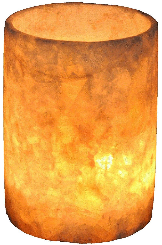 Egyptian Soft white alabaster stone hand carved candle holder votive CraftsOfEgypt