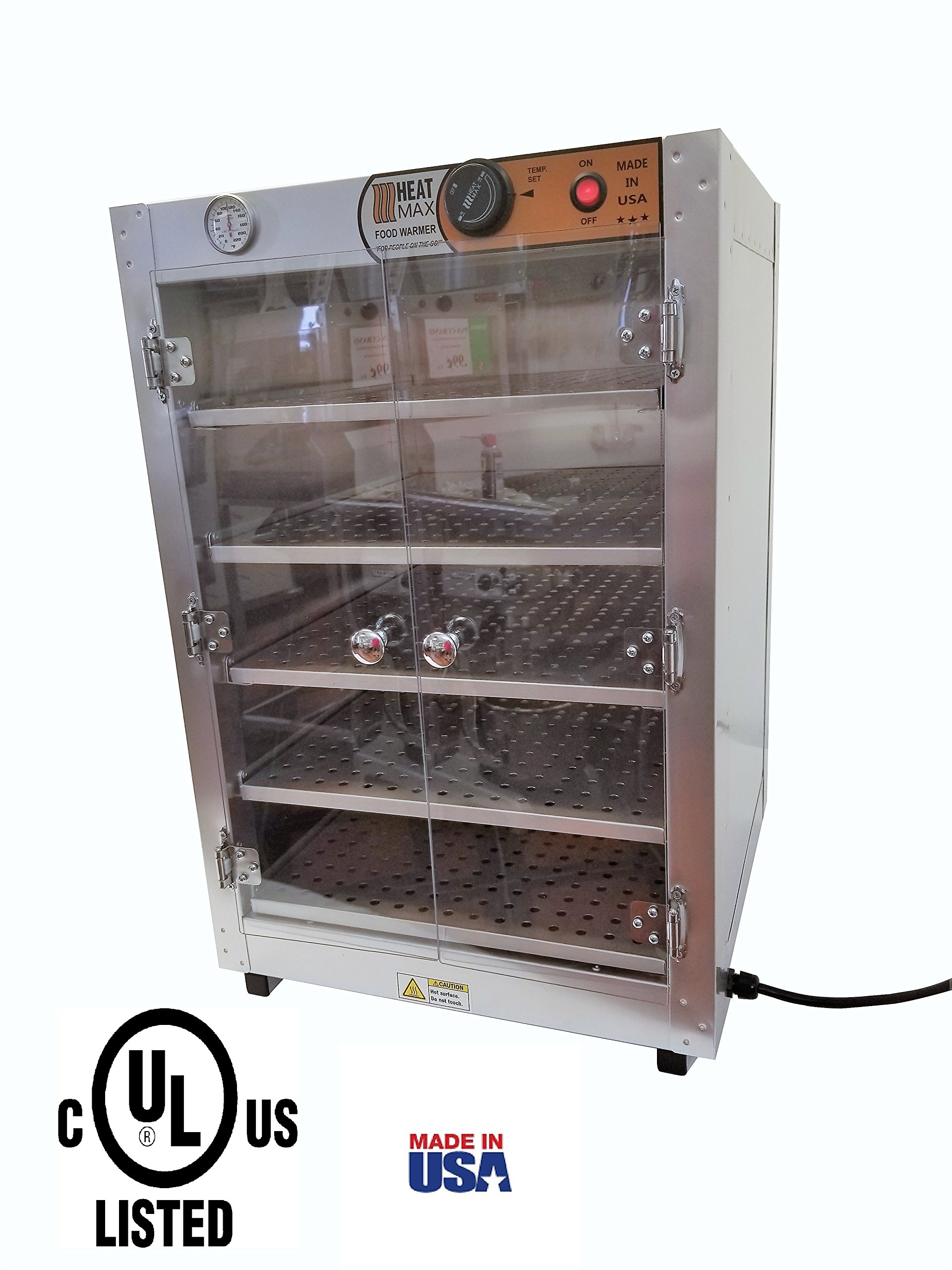 HeatMax 19x19x29 Commercial Food Pizza Pastry Patty Catering Hot Box Countertop Warmer Case by Heat Max