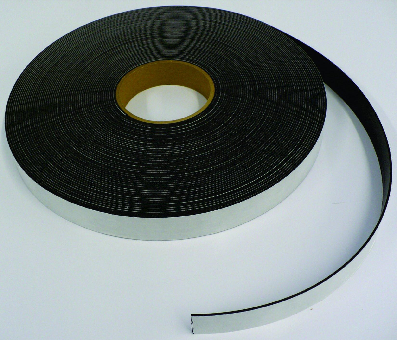 1'' X 10' - 60 mil Premium Adhesive Magnetic Tape Strip Roll