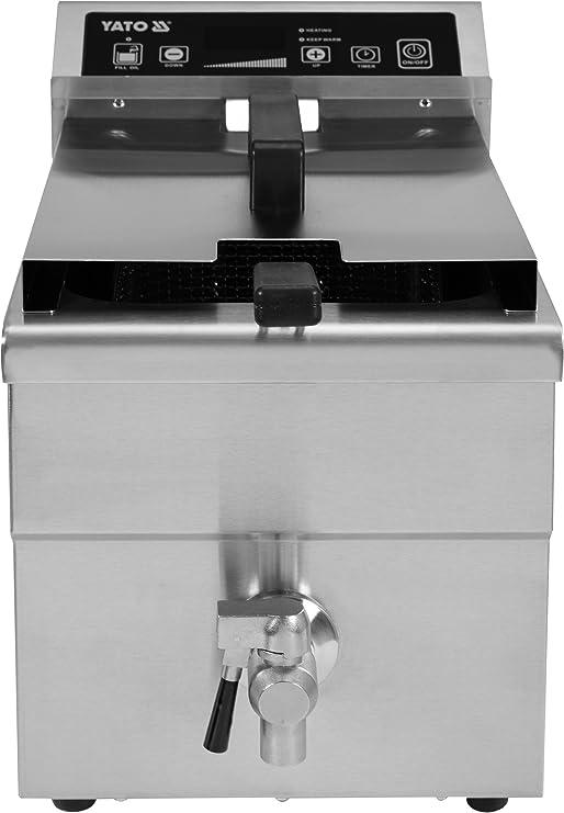 Yato – Gastro Digital Inducción freidora 8 litros, 3,5 kW   Acero ...