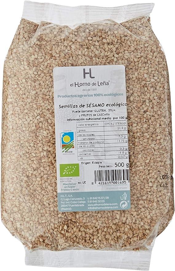Horno de Leña - Semillas de Sésamo Crudo Eco, 500 g: Amazon.es ...