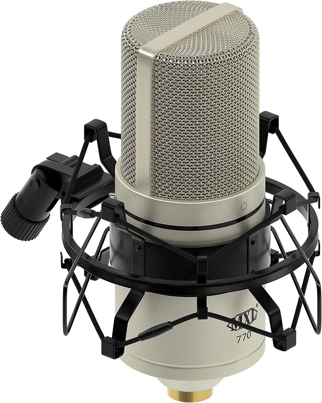 MXL Condenser Microphone, XLR, Vintage White (770VINTAGEWHITE): Musical Instruments