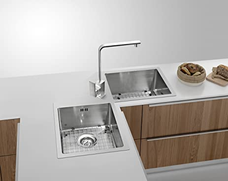 STAINLESS STEEL KITCHEN CORNER SINK HAND MADE BUTTERFLY SHAPE WITH ...