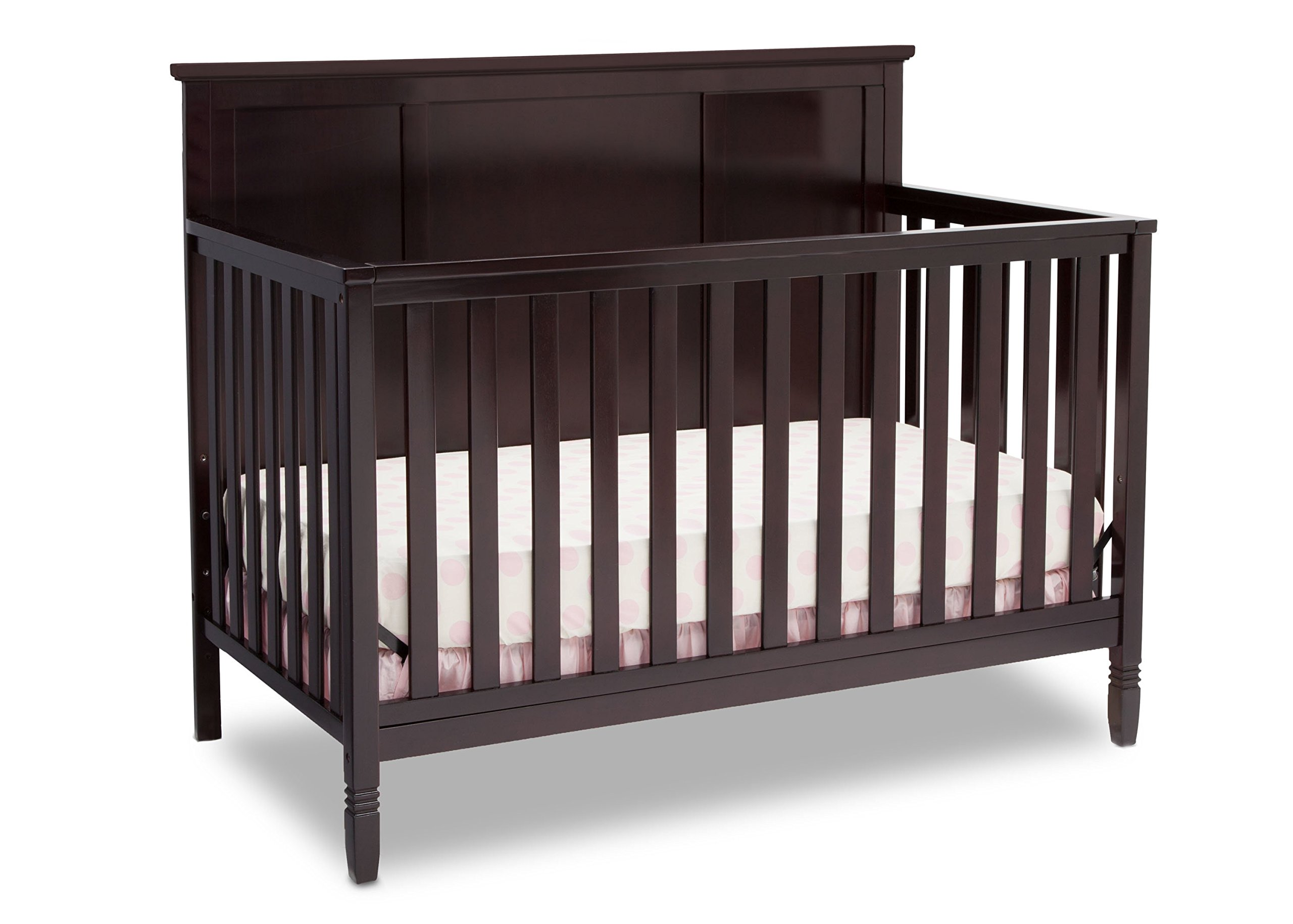 Delta Children Easton 4-in-1 Convertible Crib, Dark Chocolate