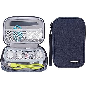 Damero Estuche para Tarjetas USB,SF,CF Cables Accesorios Eléctrica Ordenador para Gadget Bolsillos para Viaje(No Tiene Accesorios)- Azul Marino