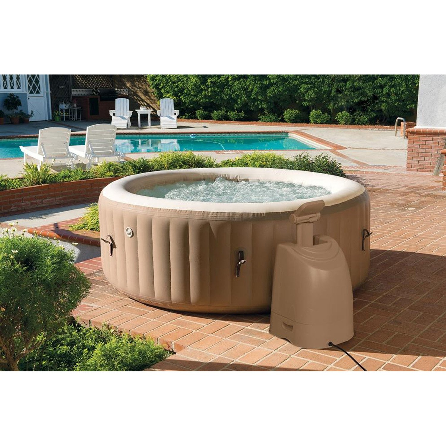 Intex Spa hinchable redondo - 4 plazas: Amazon.es: Jardín
