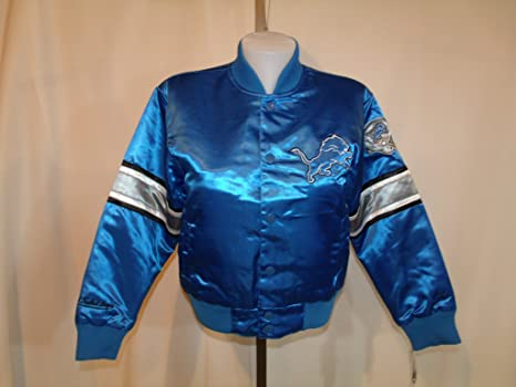 3aabca96 Amazon.com : Detroit Lions Girl's Youth Kids Blue Embroidered Shiny ...