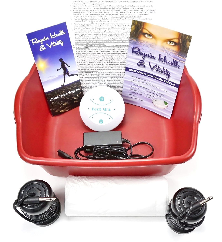 Ion Ionic Detox Cleanse Spa Detox Foot Chi Bath Unit for Home Use; NEW ERGONOMIC FOOT BASIN O Health