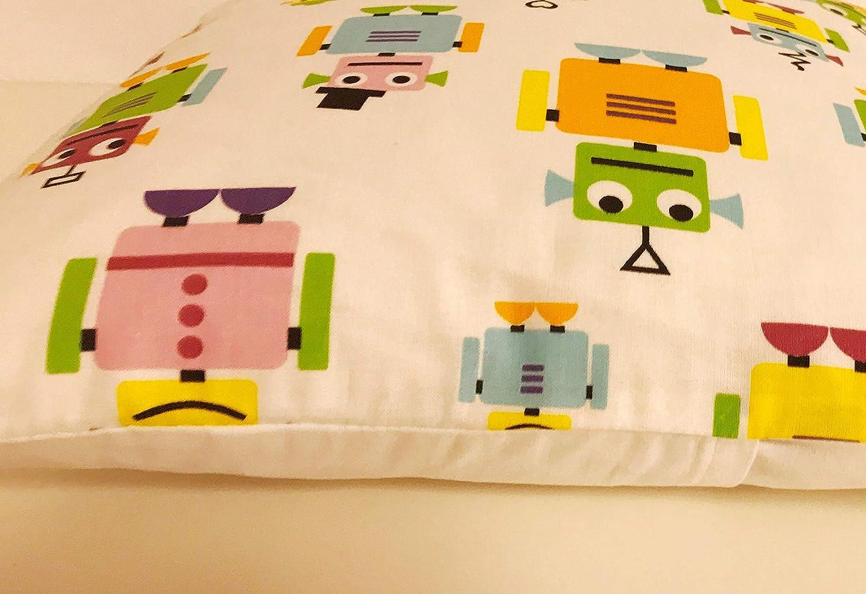 TryPinky/® Kissenh/ülle 35 X 35 cm Roboter wei/ß Kissenbezug f/ür Kissen Kinder 100 /% Baumwolle BW Handmade Geschenk Kuschelkissen Gelb Orange Gr/ün