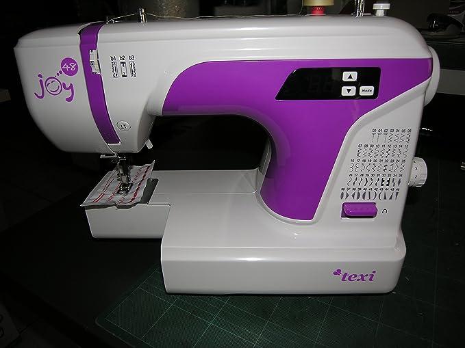 texi Máquina de coser Joy 48 con brazo libre, luz LED, metal garra...: Amazon.es: Hogar