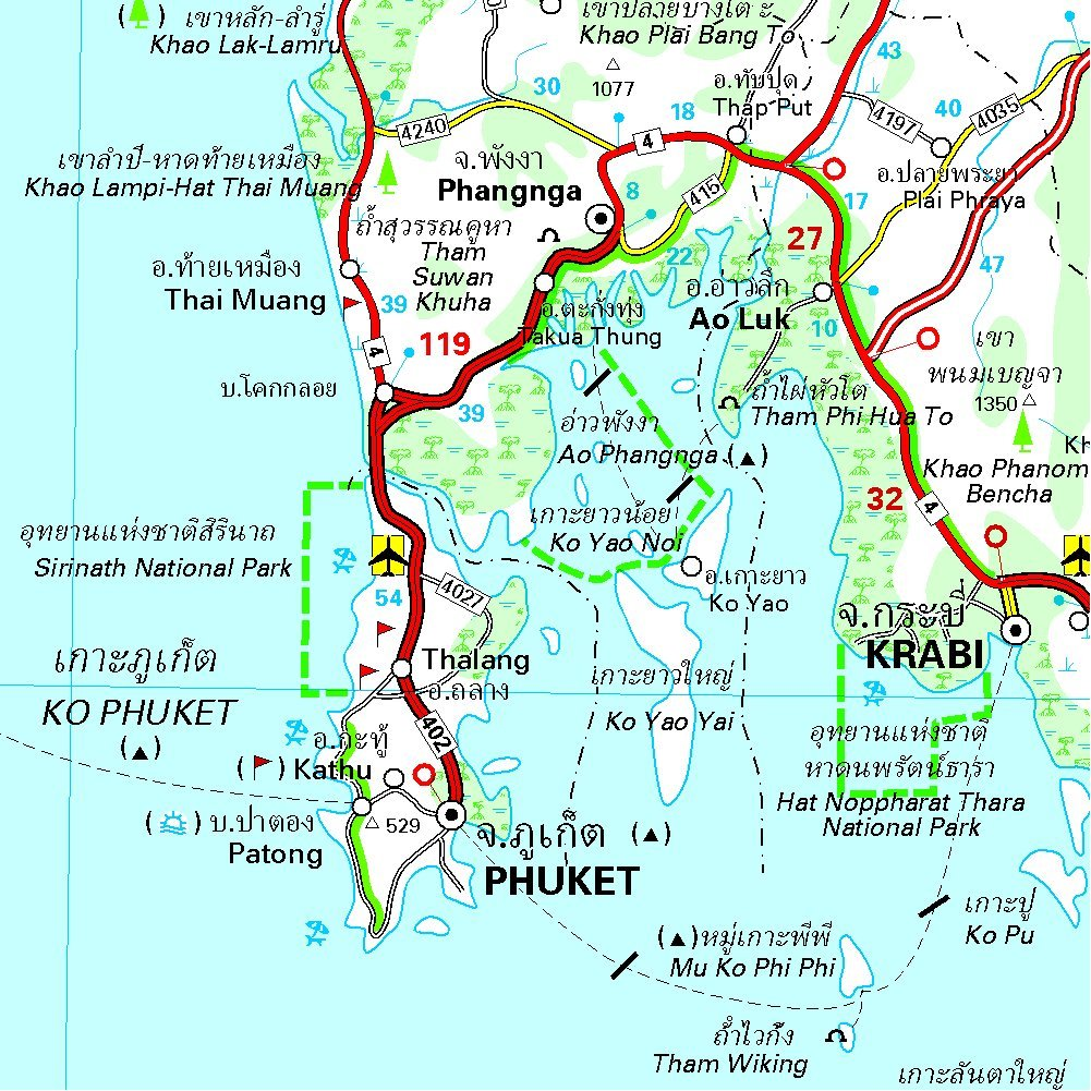 Carte Thailande Phuket Krabi.Amazon Fr Carte National Thailande Collectif Michelin
