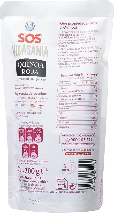 SOS Vidasania Quinoa Roja - 200 gr