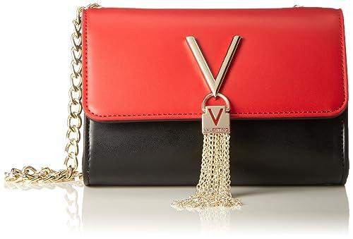 4ad09a8809937 Valentino by Mario Valentino Womens Divina Bi Cross-Body Bag Black (Nero  Rosso