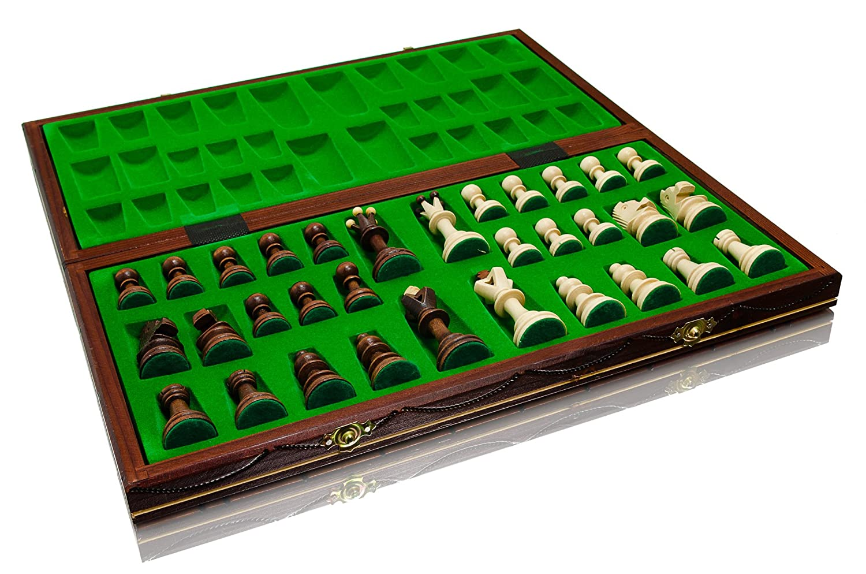 Woodeyland Fabriqu/é /à la main en bois S/ÉNATEUR D/ÉCHECS PROFESSIONNEL 40x40 cm