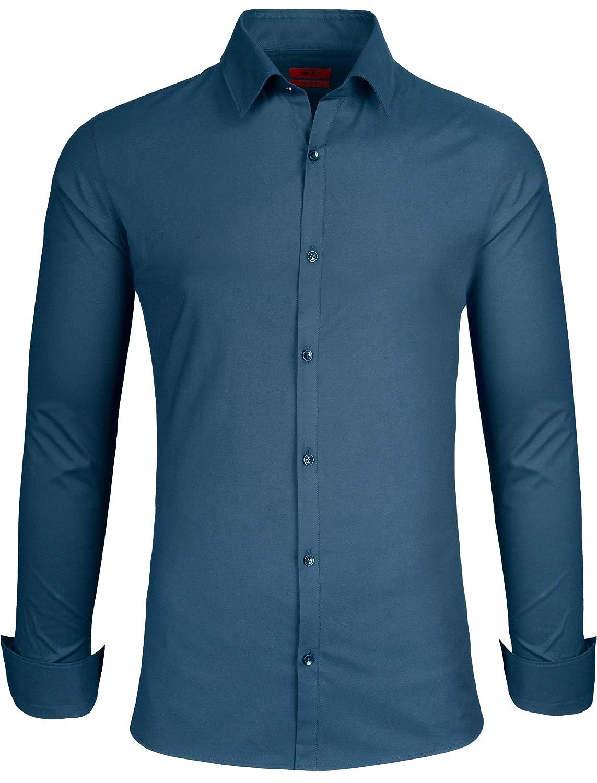 Grin&Bear Herren Hemd in 3 Verschiedenen Passformen, von Extra Slim Fit bis Regular, für Freizeit und Büro, SH333
