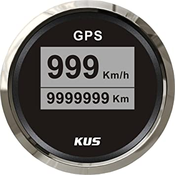 Kus Digital GPS velocímetro 0 – 999 KM/h para camión coche motocicleta 52 mm