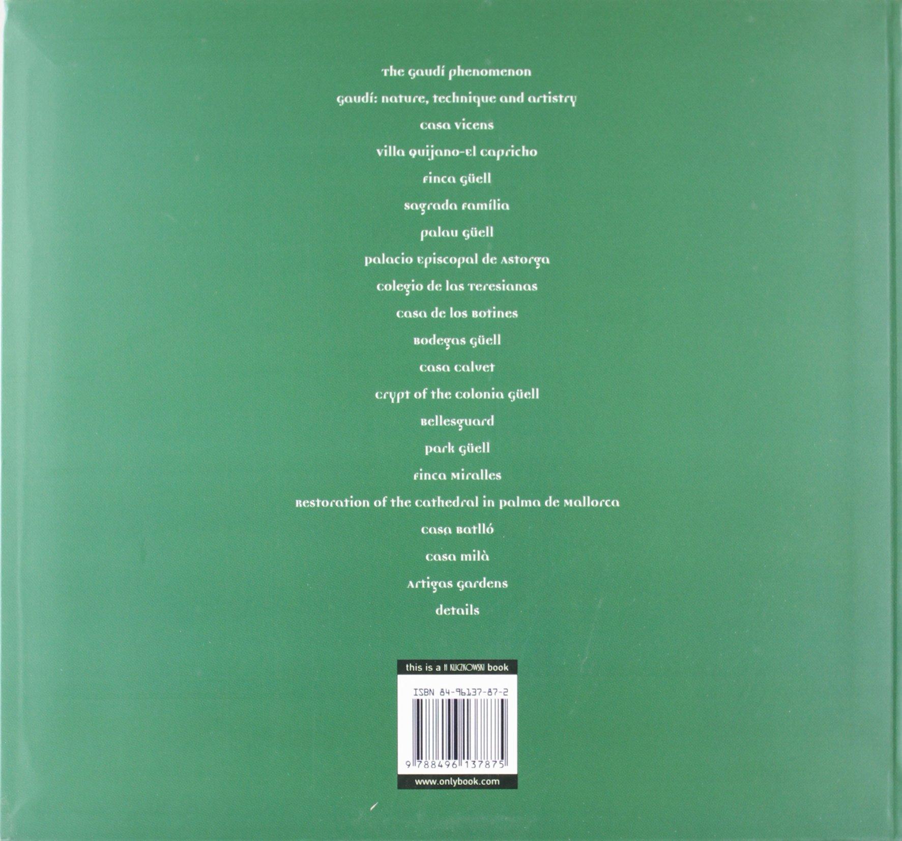 The architecture of gaudi (photographies): Amazon.es: H. Kliczkowski: Libros en idiomas extranjeros