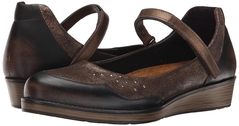 NAOT Women's EU/7.5-8 Sincere Flat B00TQ6OPM8 39 EU/7.5-8 Women's M US Volcanic Brown/Bronze Shimmer Suede/Grecian Gold Leather 472d37