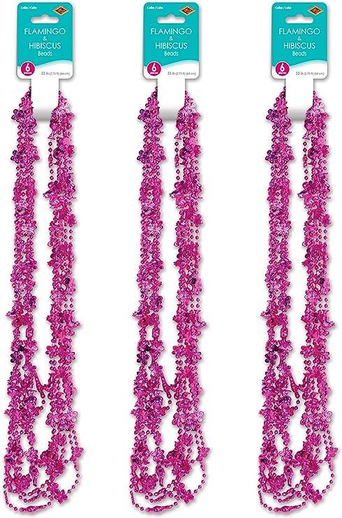 6 x Hot Pink Flamingo Party Themed Friendship Bracelets Kids Birthday Bag Favour