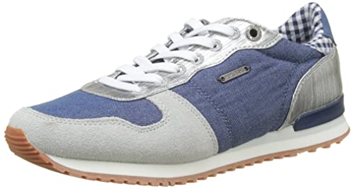 Womens Gable Sue Trainers, Blue Pepe Jeans London