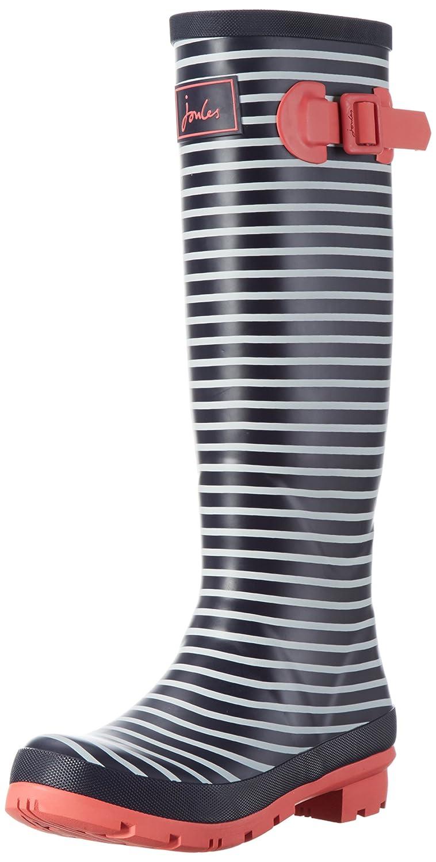 Joules Women's Welly Print Rain Boot B01M2UBNKR 5 B(M) US Navy Mini Stripe