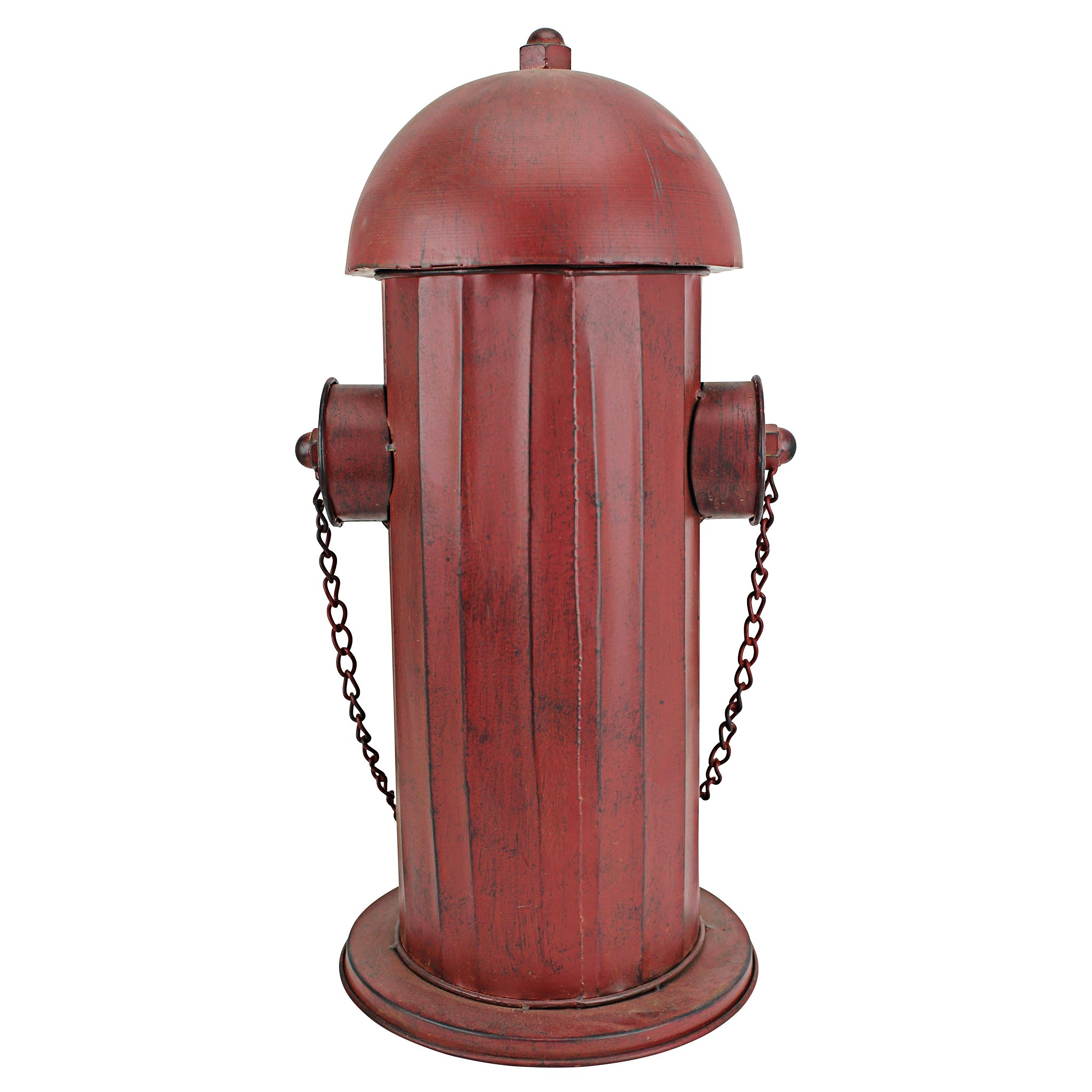 Design Toscano Fire Hydrant Statue Puppy Pee Post and Pet Storage Container, Medium 18 Inch, Metalware, Full Color by Design Toscano (Image #4)