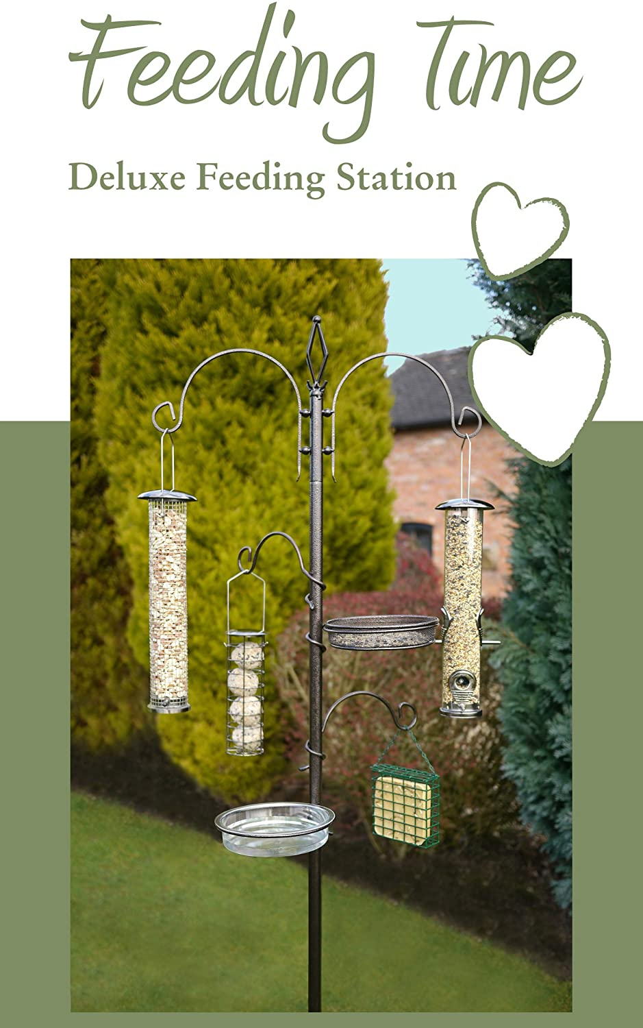 (Feeding Time) Deluxe Wild Bird Feeding Station < Please Select > RW-25525