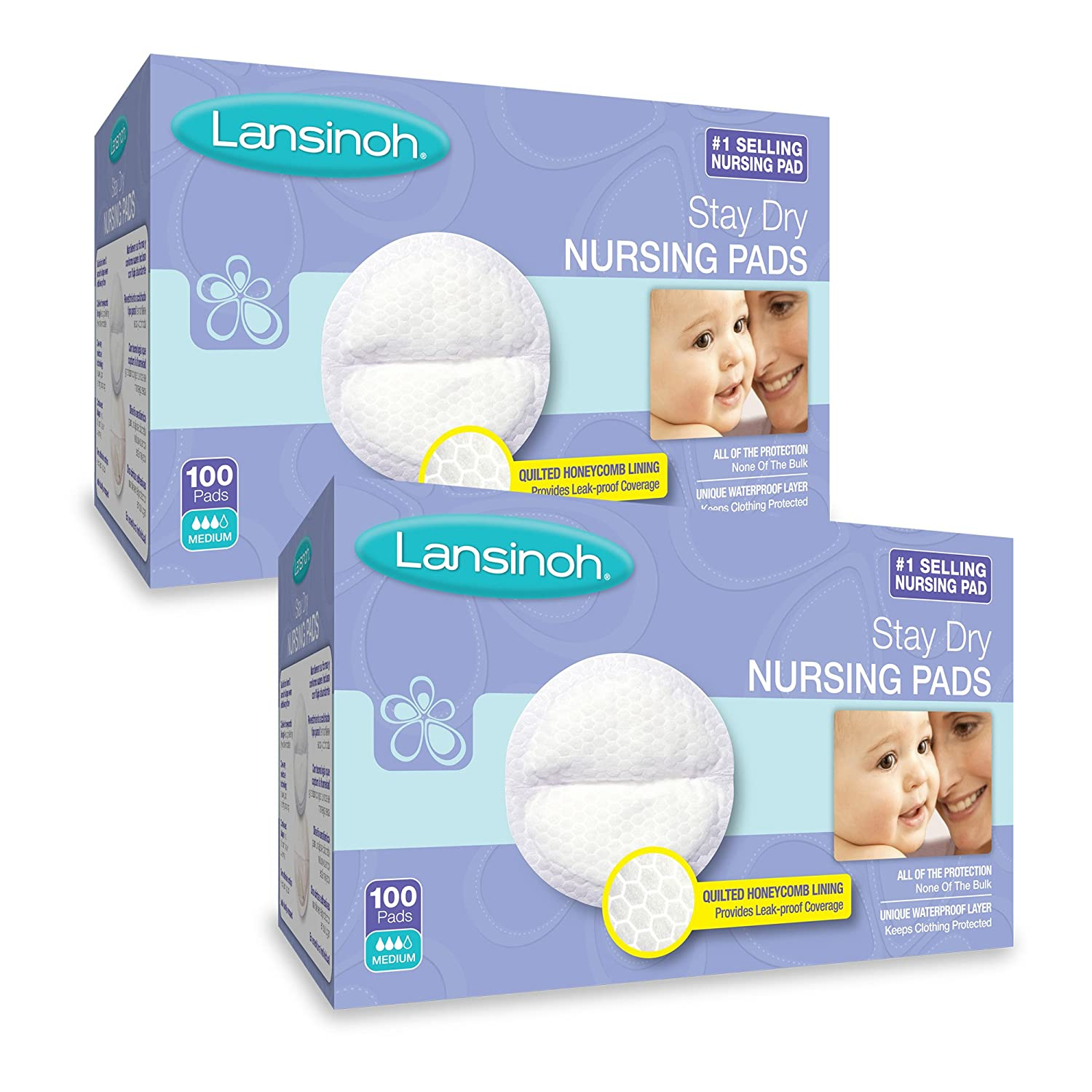 Lansinoh Nursing Pads Day & Night Multipack, Pack of 32 (20 Stay Dry Pads & 12 Ultimate Protection) Disposable Breast Pads Lansinoh Laboratories 20375