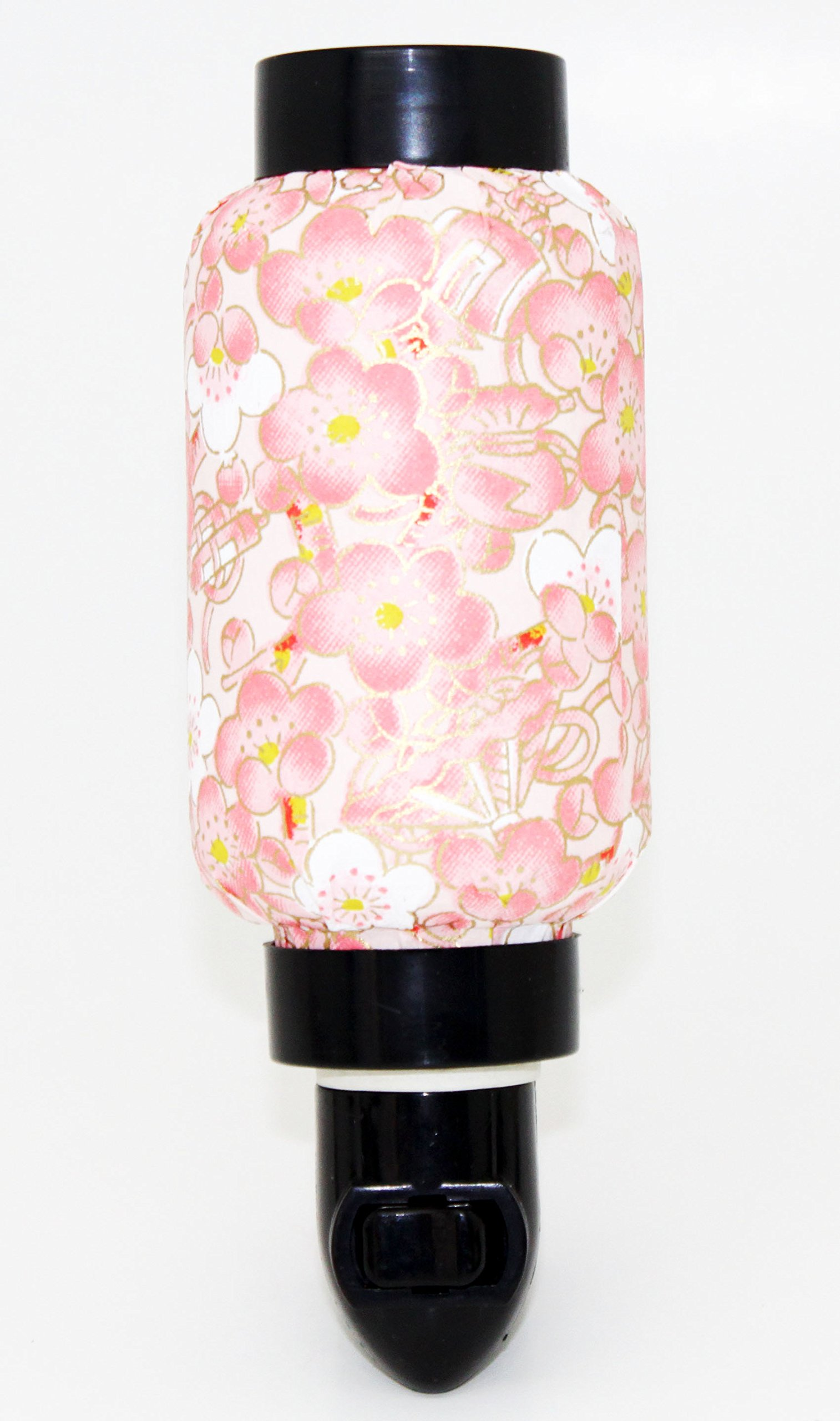 Pink Sakura Oriental Japanese Washi Night Light Lamp Candle Home Decor Birthday Housewarming Congratulatory Blessing Gift US Seller