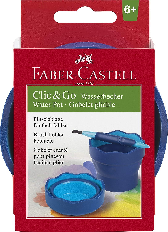Faber-Castell Vaso para mezcla de pinturas Clic /& Go color violeta