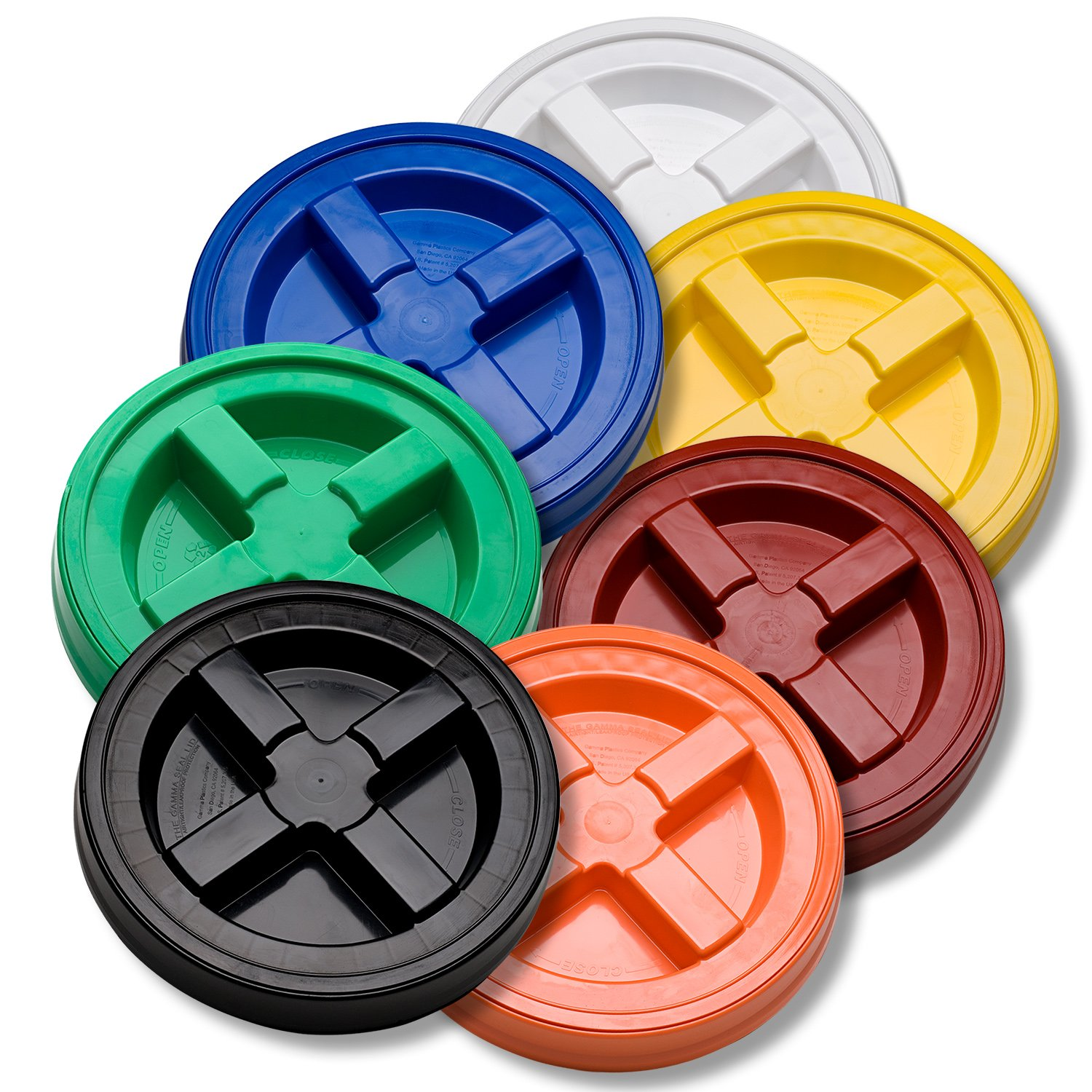 Gamma Seal Lid Variety Pack- 7 Colors