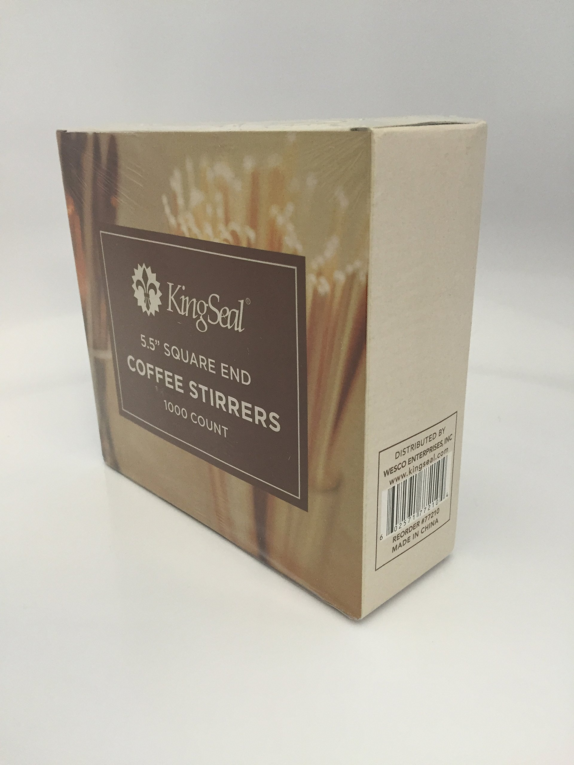 KingSeal Natural Birch Wood Coffee Stirrers, Stir Sticks, 5.5 Inch, Square End - 10 Packs of 1000 per Case (10,000 pcs total) by KingSeal (Image #4)
