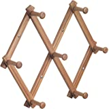 InterDesign Formbu Wall Mount Entryway Expanding Storage Rack for Jackets, Coats, Hats, Scarves - Natural Bamboo