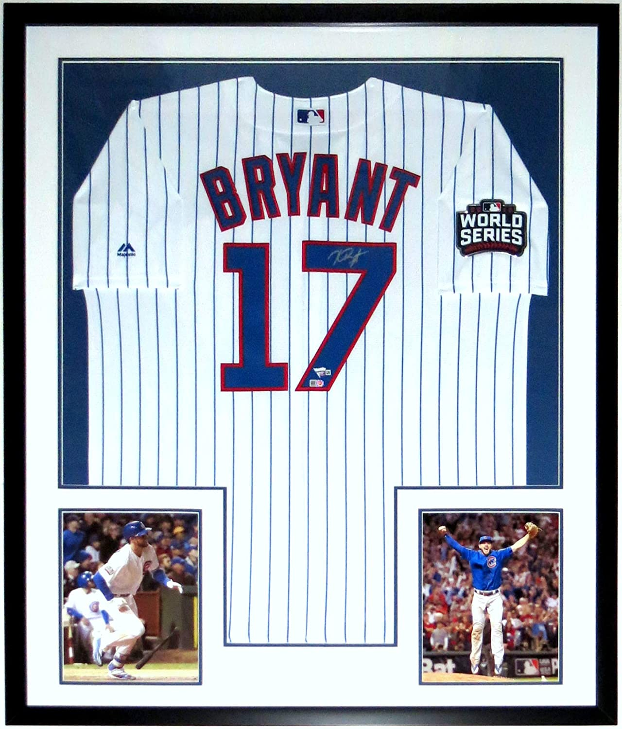 Kris Bryant Signed Chicago Cubs 2016 World Series Jersey - Fanatics   MLB  COA Authenticated - Professionally Framed   2 8x10 Photo   Patch 34x42 at  Amazon s ... 949e346c7