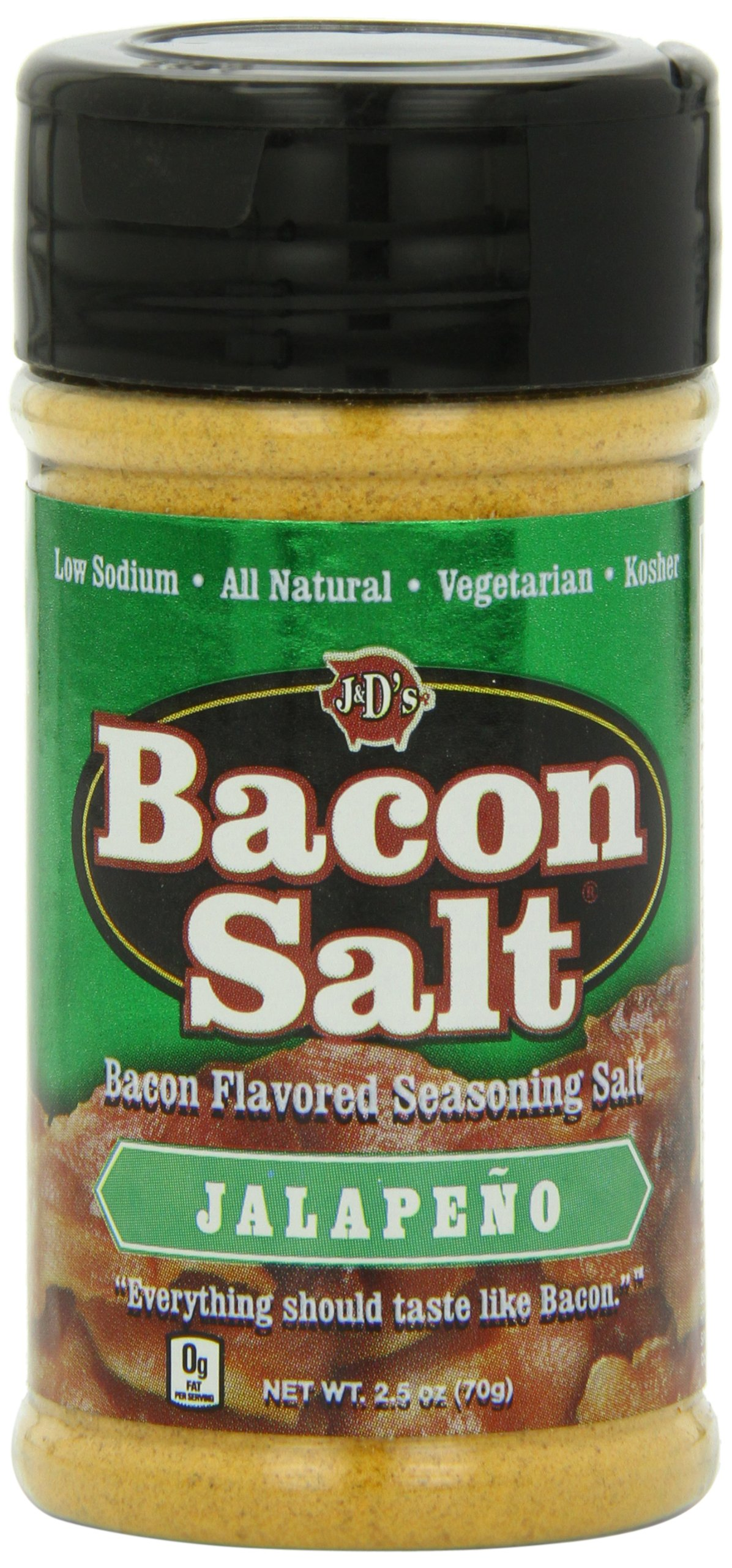 J&D's Bacon Salt, Jalapeno, 2.5 Ounce