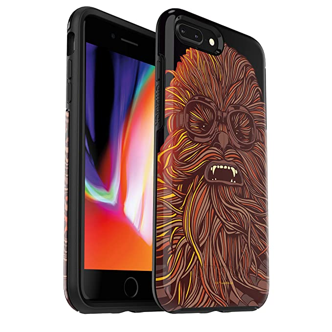super popular f71fd 391be OtterBox Symmetry Series Star Wars Case for iPhone 8 Plus & iPhone 7 Plus  (ONLY) - Retail Packaging - Chewbacca