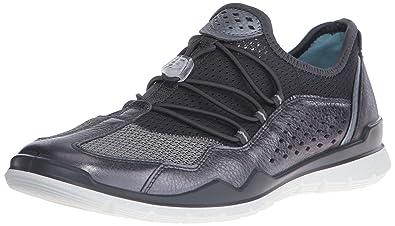 ECCO Women's Lynx Fashion Sneaker, Dark Shadow Metallic/Titanium, 41 EU/10