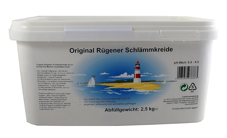 Original rügener schlämmk reide/2, 5 kg Calcio policarbonato/100% ecológico: Amazon.es: Jardín