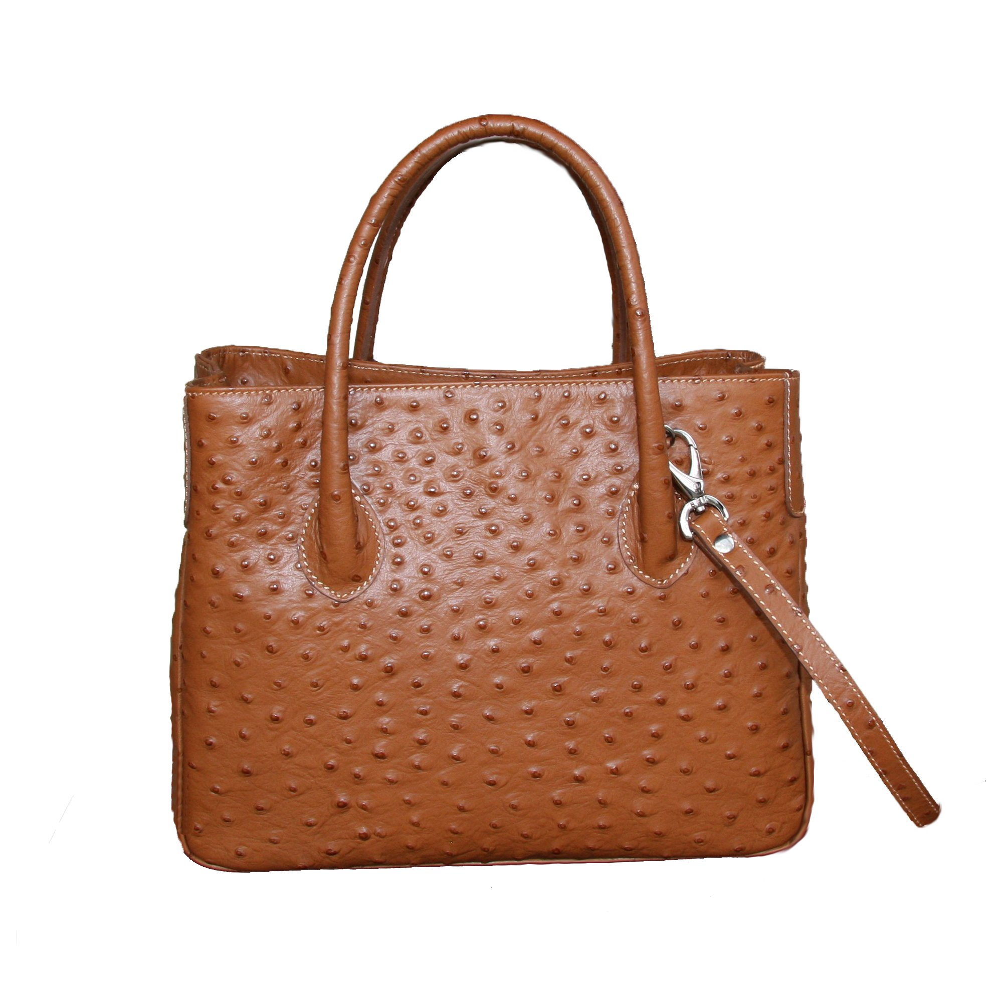 Collins of Texas Womens Laura Handbag Small Embossed Ostrich