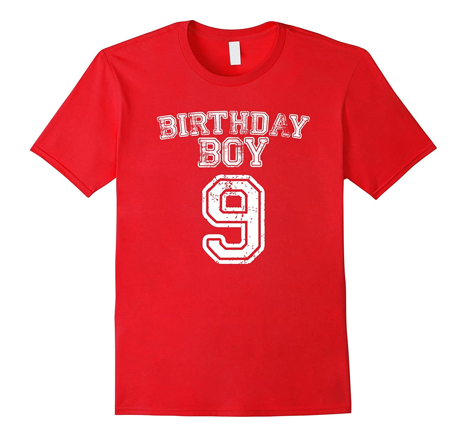 9th Birthday Sports Jersey T Shirt 9 Year Old Boy Tee CD Canditee